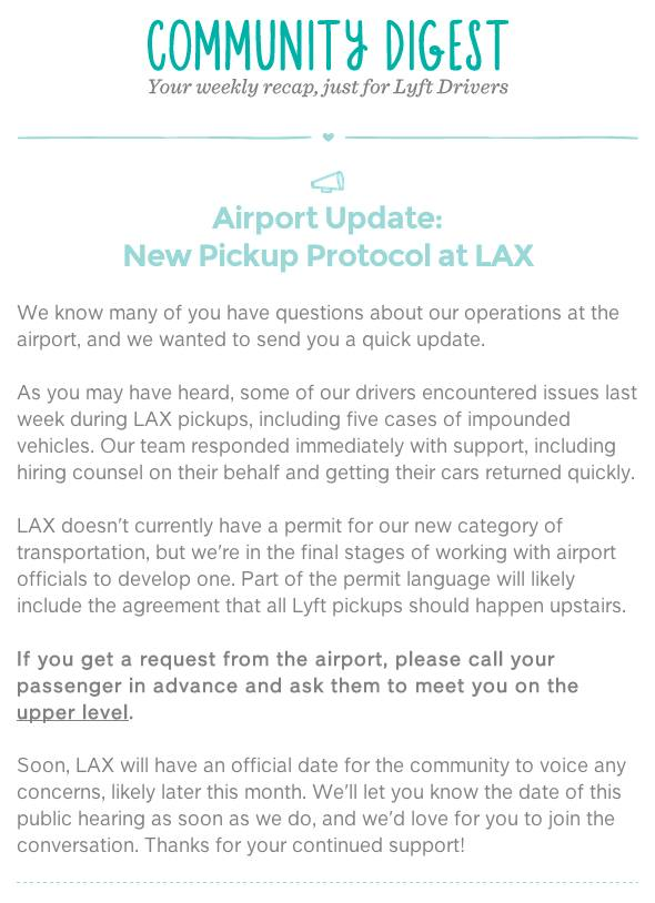 What are the real risks of doing airport runs with lyft and uber lax lyft pickup protocol platinumwayz
