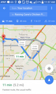 Directions To Raising Cane's Chicken