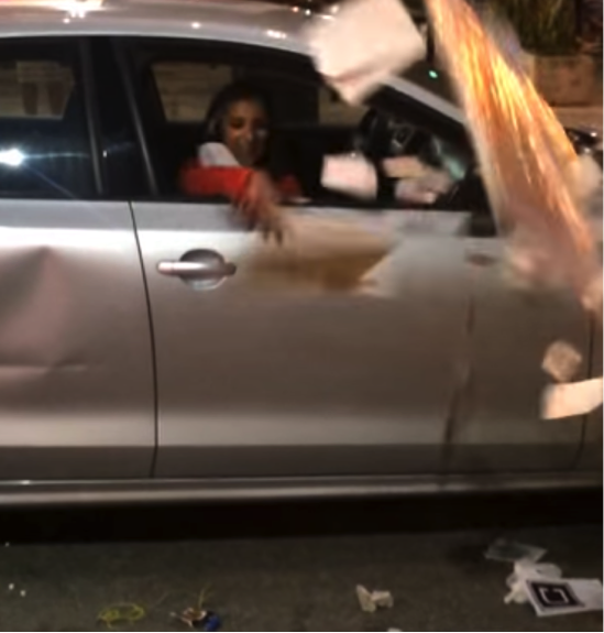 New Viral Video Shows Drunk Passenger On Rampage In Miami Uber Driver's Car