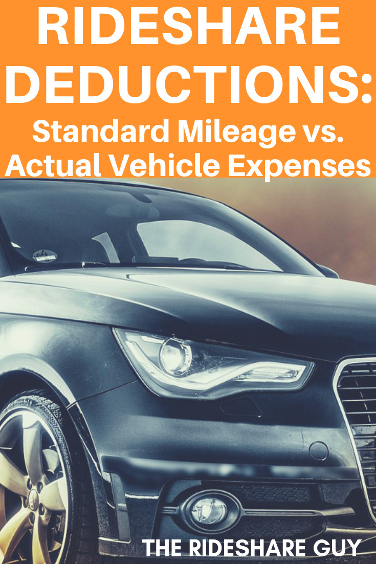 Standard Mileage vs Actual Vehicle Expenses for Uber Drivers