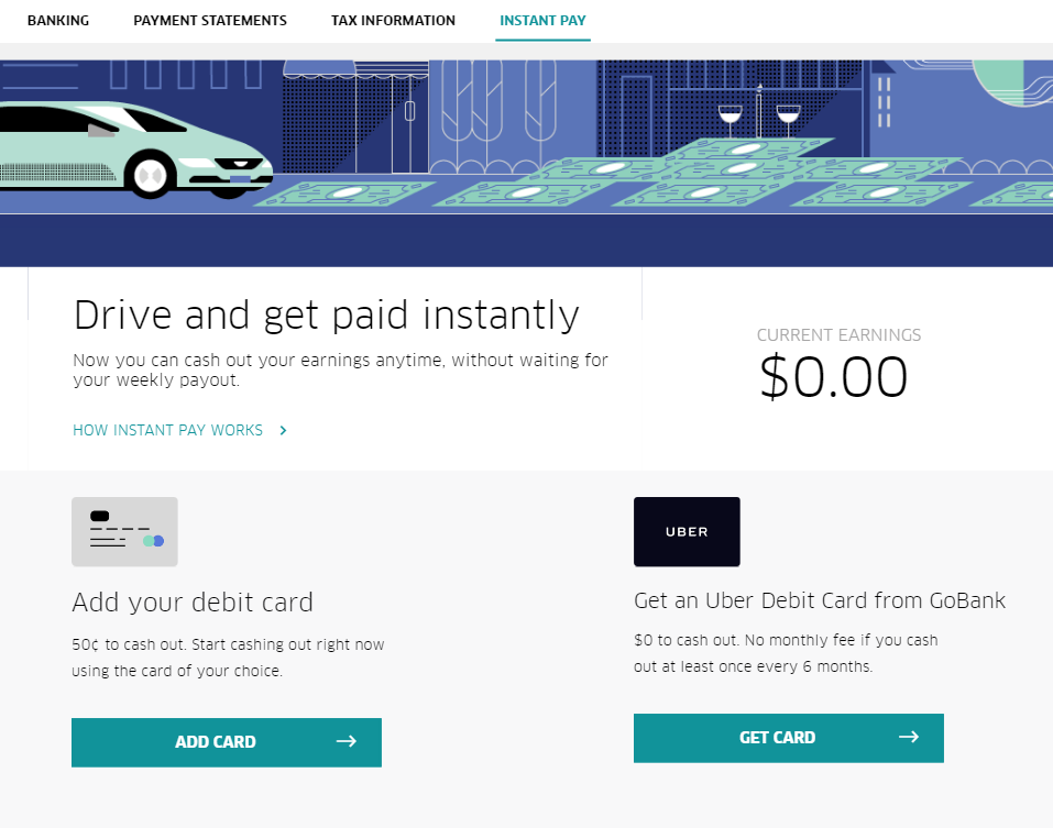 Uber Instant Pay