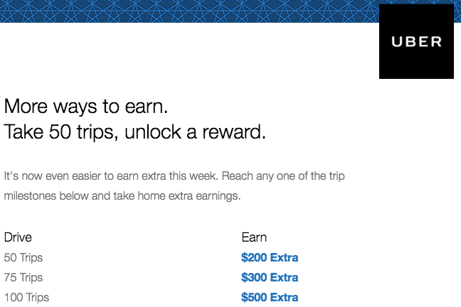 New Uber Bonus Amounts $200 $300 $500 Uber Guarantees