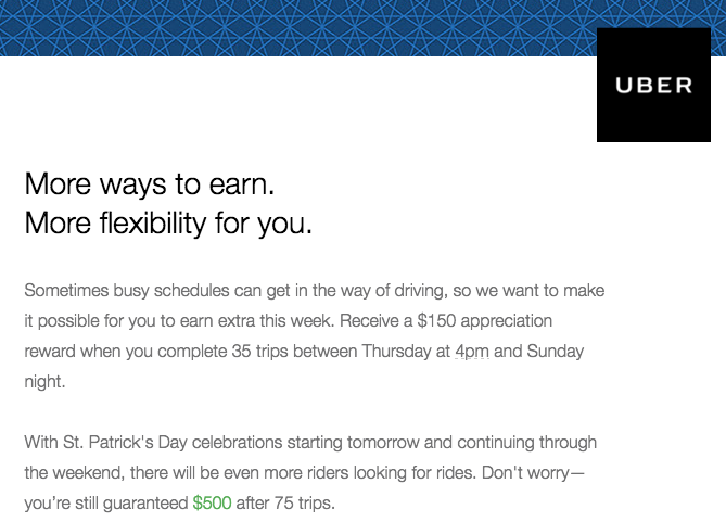 $150/$500 Guaranteed Pay Offer From Uber For LA Drivers