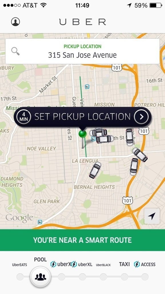 Uber Smart Routes In Action