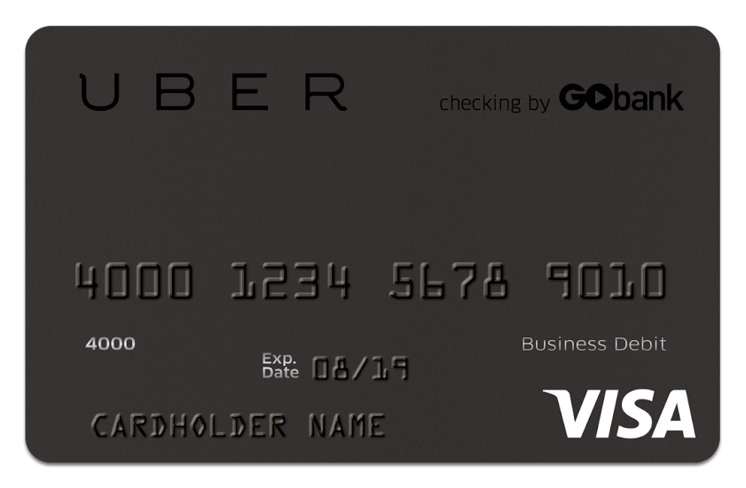 Uber Debit Card from Gobank for Instant Pay