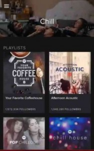 Screenshot of Spotify app