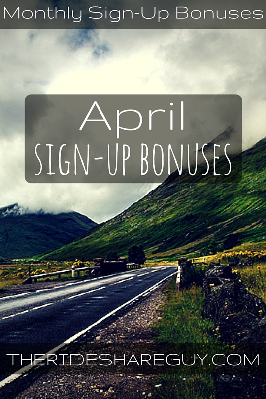 April Sign-Up Bonuses