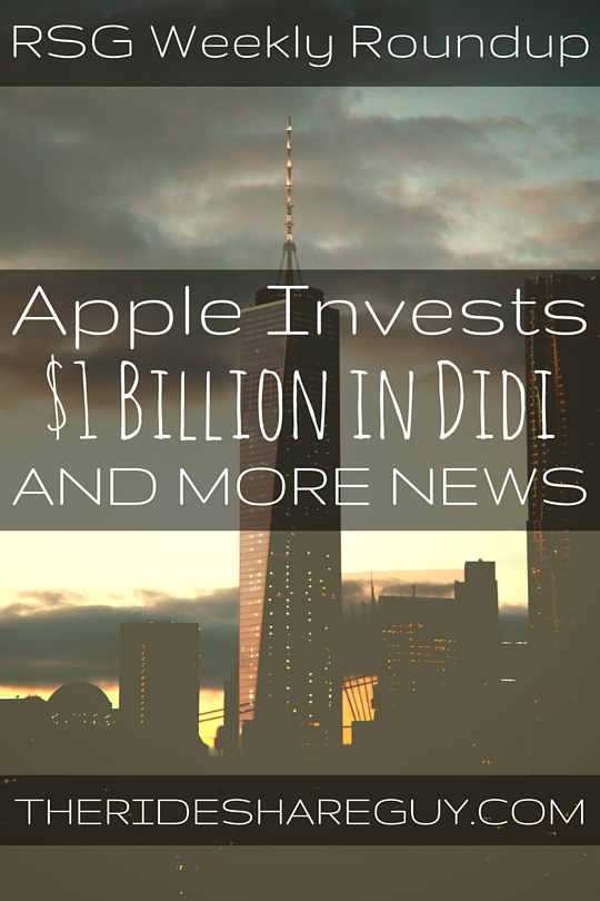 RSG contributor John takes a look at Apple's $1 billion investment, a weird driver story out of China & the formation of the first driver's guild -