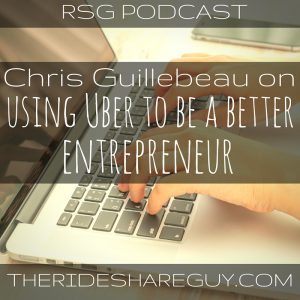 In this episode, we talk to Chris Guillebeau, an NY Times best selling author about rideshare driving and entrepreneurship.