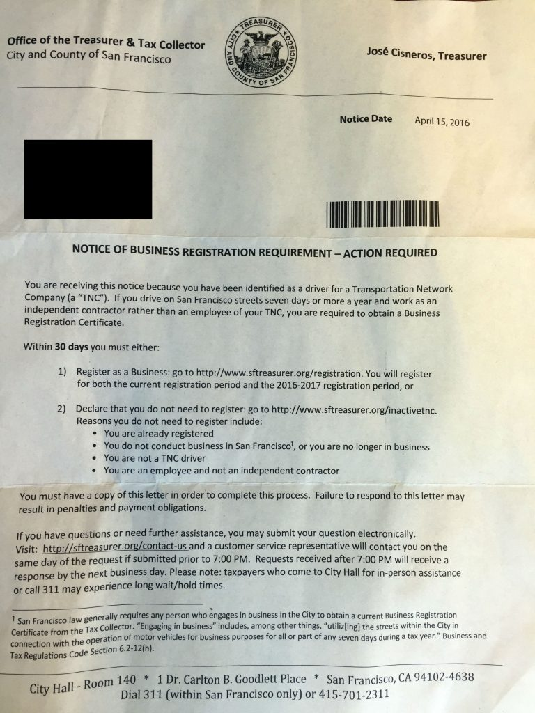 SF Business License