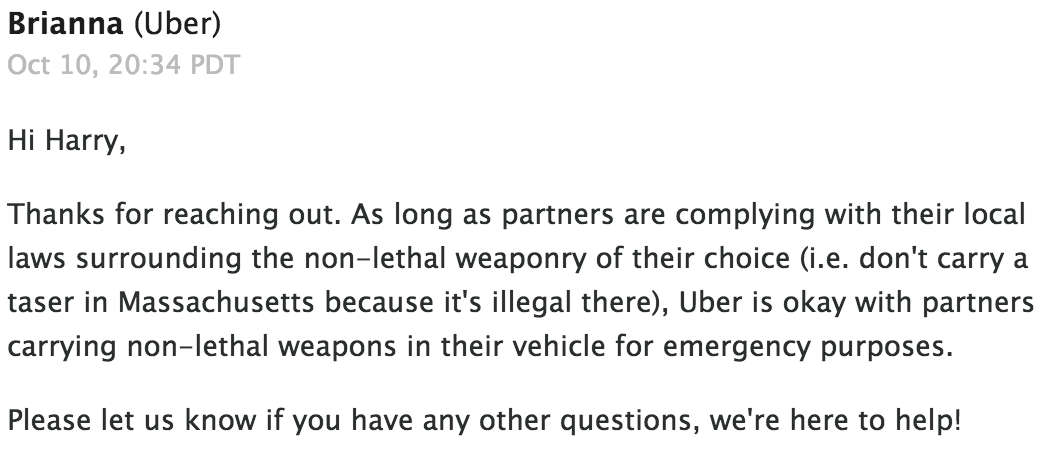 uber-non-lethal-weapon-policy