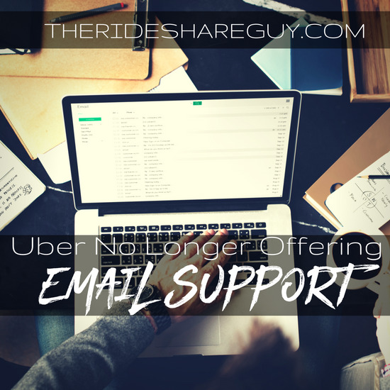 Uber No Longer Offering E-mail Support