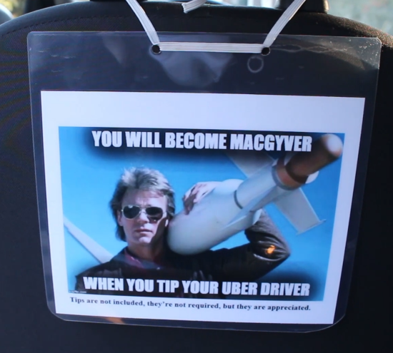 The MacGyver sign, sent by an RSG reader