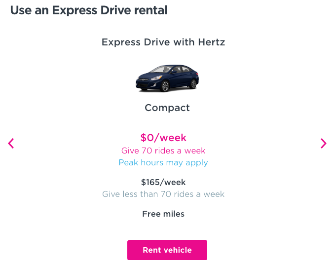 my experience renting a car from the lyft express drive program in los angeles. Black Bedroom Furniture Sets. Home Design Ideas