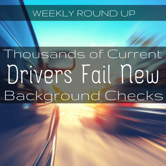 In this round up, we take a look at Massachusetts' new stricter background checks, a new round of fundraising for Lyft and more.