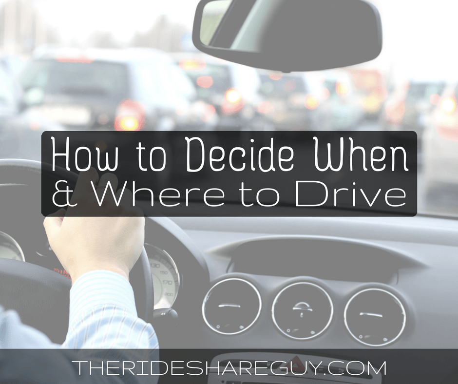 How to Decide When and Where to Drive