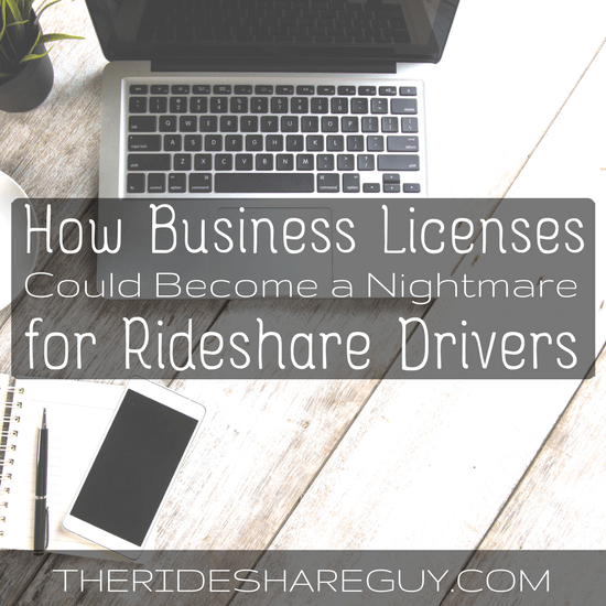 Today, senior RSG contributor Christian Perea covers how business licenses could become a nightmare for us drivers, and how Uber is actually helping us fight it.