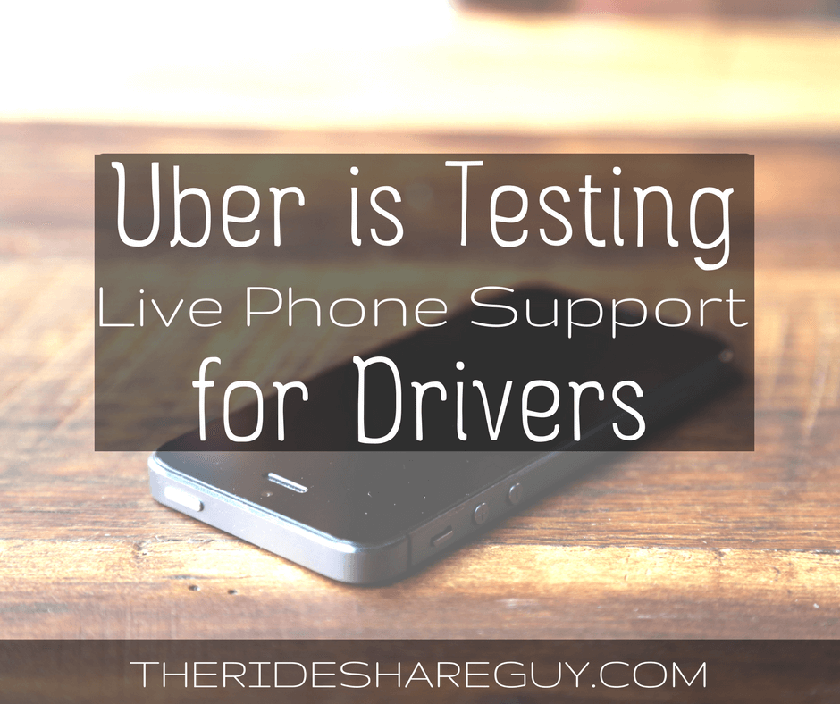 Uber is Testing 24-Hour Live Phone Support For Drivers