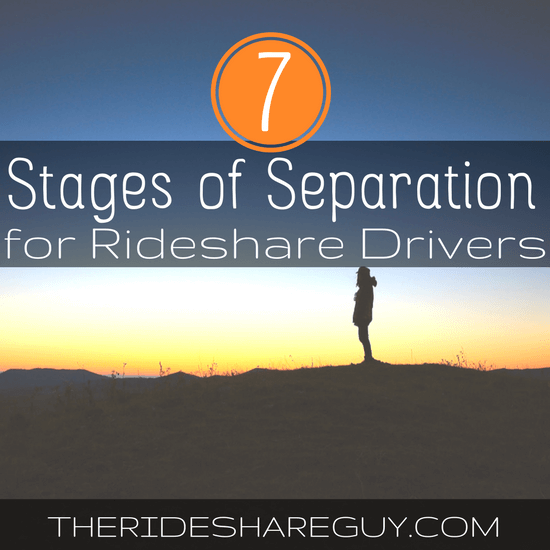 There's no getting around the fact that a lot of rideshare drivers quit, but why? We go through the 7 stages of separation from rideshare driving here -