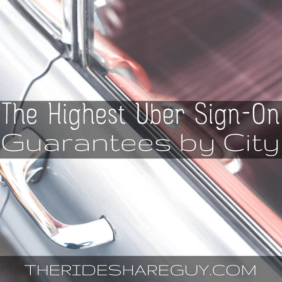The Highest Uber Sign up bonus by City