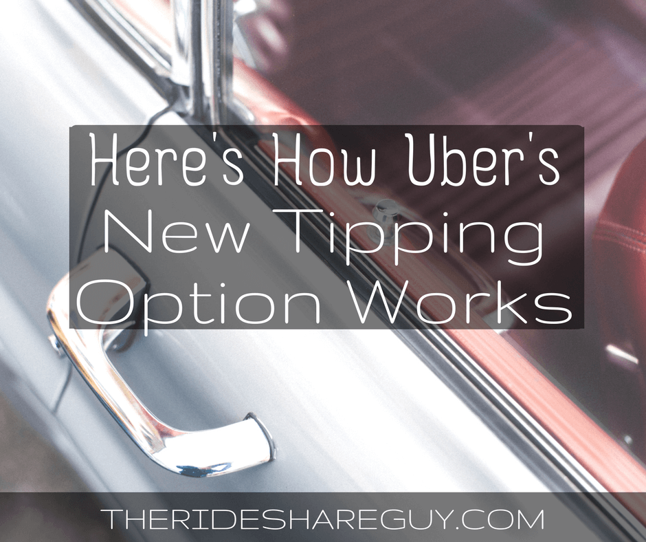 Here's How Uber's New Tipping Option Works