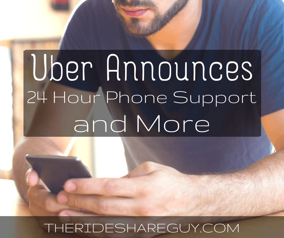 Uber Announces 24 Hour Phone Support, Ratings Protection and More