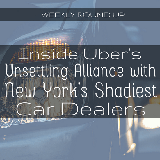 In this round up, John covers stories on Uber's alliance with shady car dealers, whether drivers could get equity in Uber, and how drivers would fix Uber -