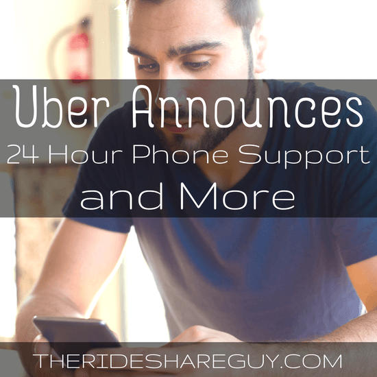 In the spirit of Uber's 180 Days of Change, Uber has made several new announcements, including 24 hour phone support. More here -