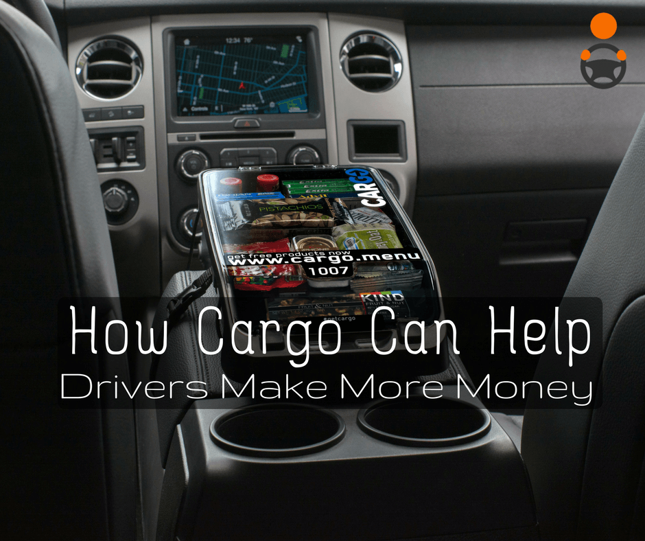 cargo menu for uber  u0026 lyft drivers  sell snacks  u0026 get paid