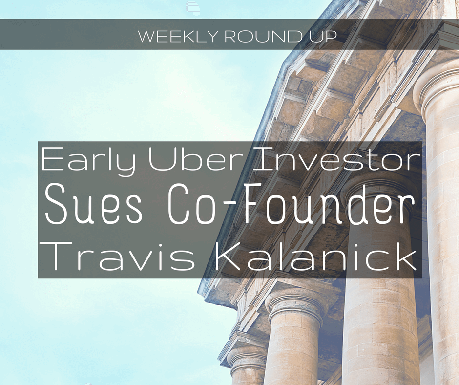 Early Uber Investor Sues Co-founder Travis Kalanick, Accusing Him of Fraud