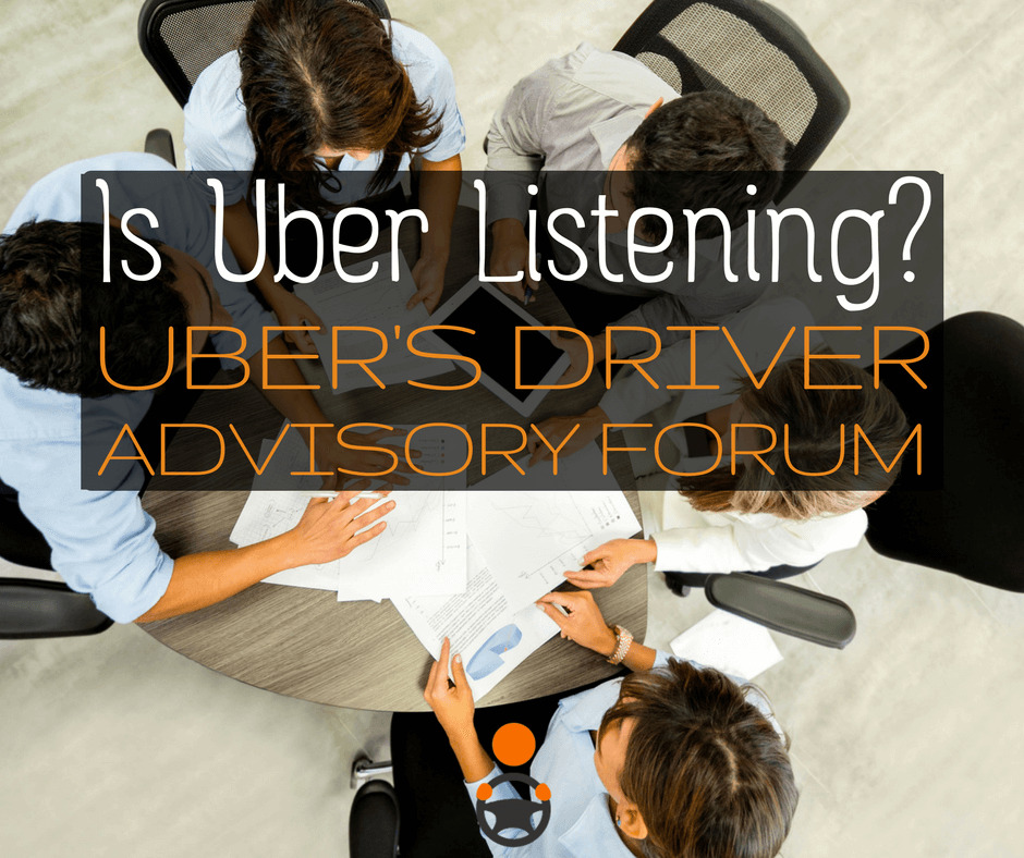What Happened at the Uber Driver Advisory Forum