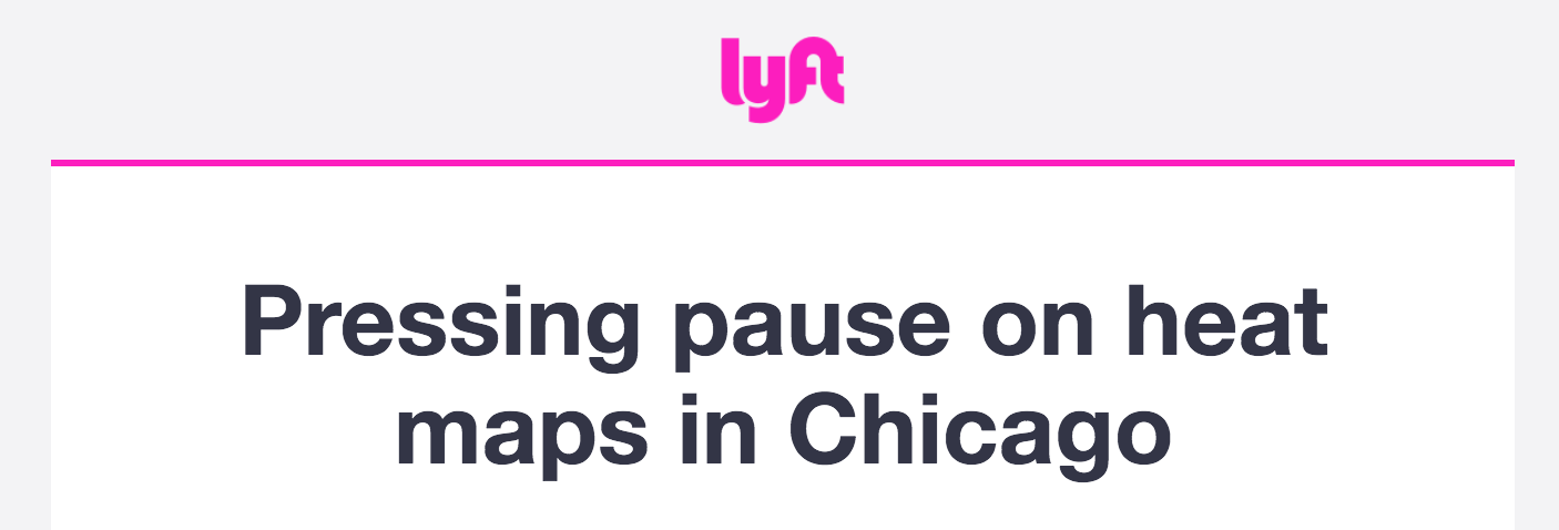 Heat maps are currently on pause in Chicago now: