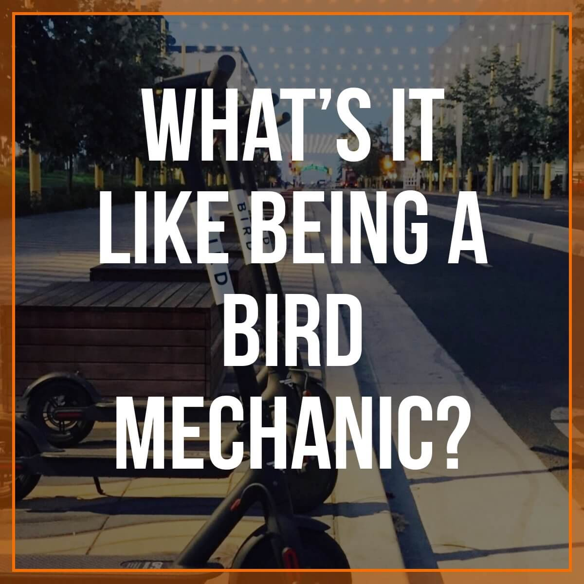 If your city has Bird scooters, you've probably seen people out and about on them. Perhaps you've even seen some damaged scooters - but have you ever wondered who repairs them? They're called 'Bird Mechanics' and today, reader Chris T. is going to share how you can get started as a Bird Mechanic, what they do, and how much they are paid.