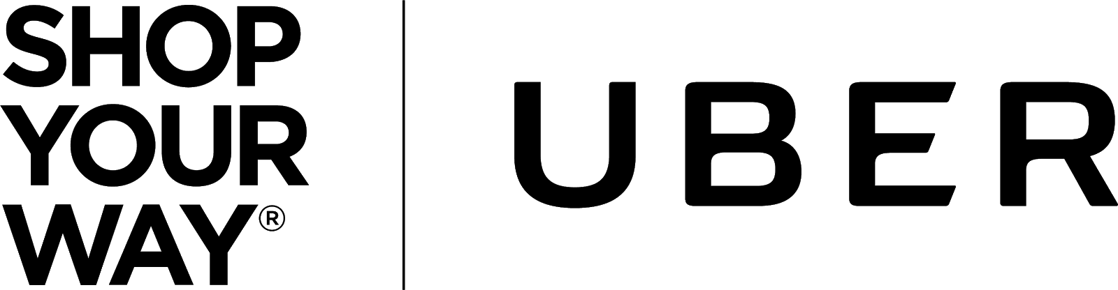image of Shop Your Way and Uber's partnership logo