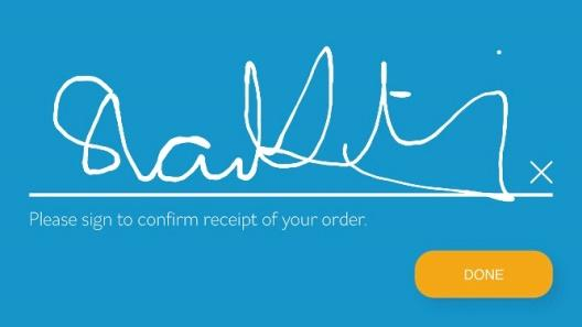 image of Signing screen with eaze