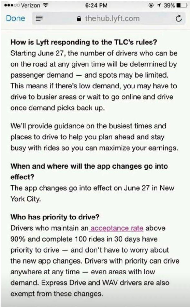 lyft drivers become employees