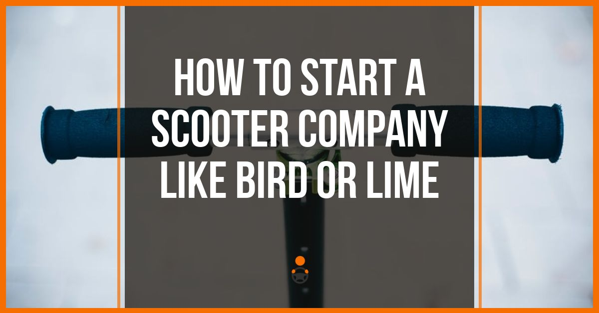 How To Start An Electric Scooter Rental Business Like Bird