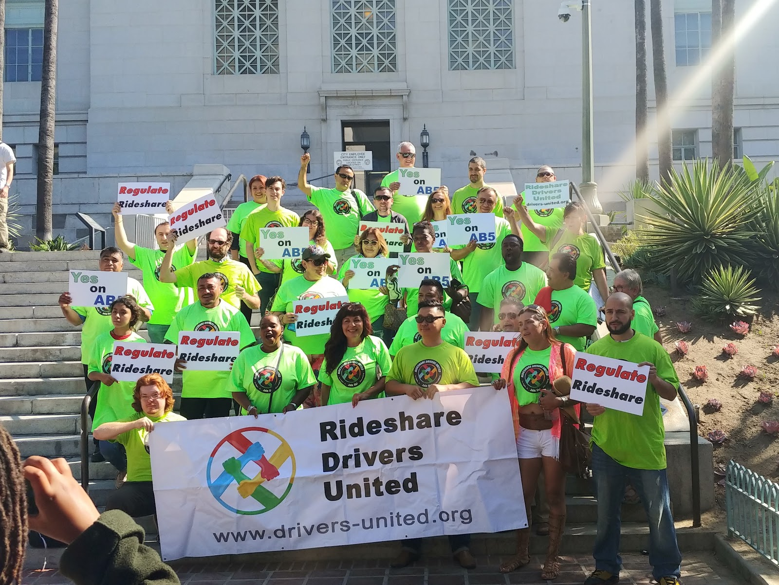 RDU Members at L.A. City Hall steps