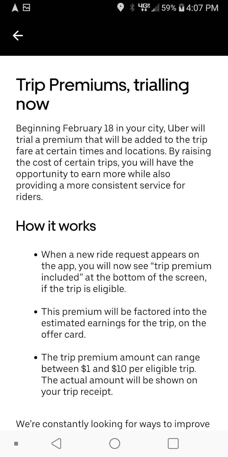 Uber Trials Trip Premiums for Drivers in California
