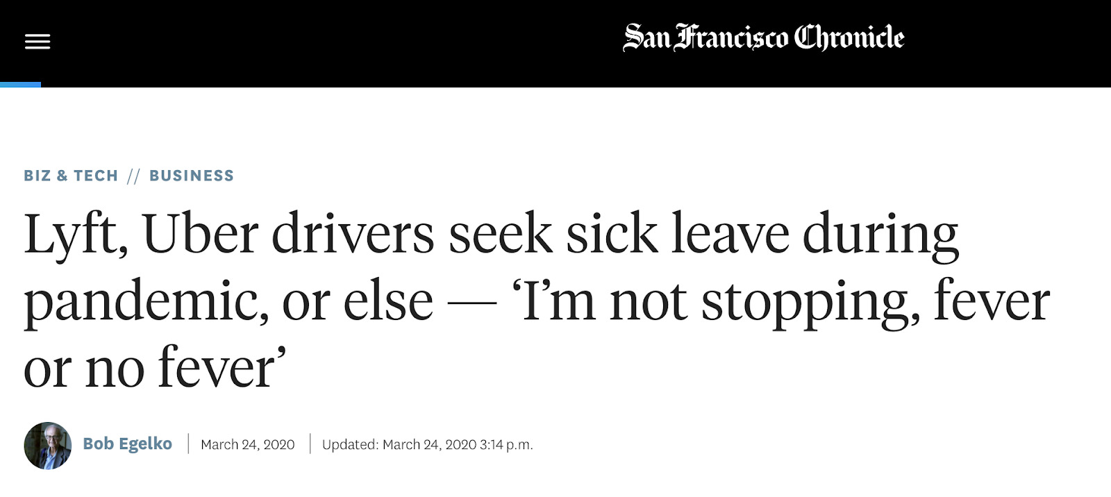 Uber, Lyft drivers need sick pay