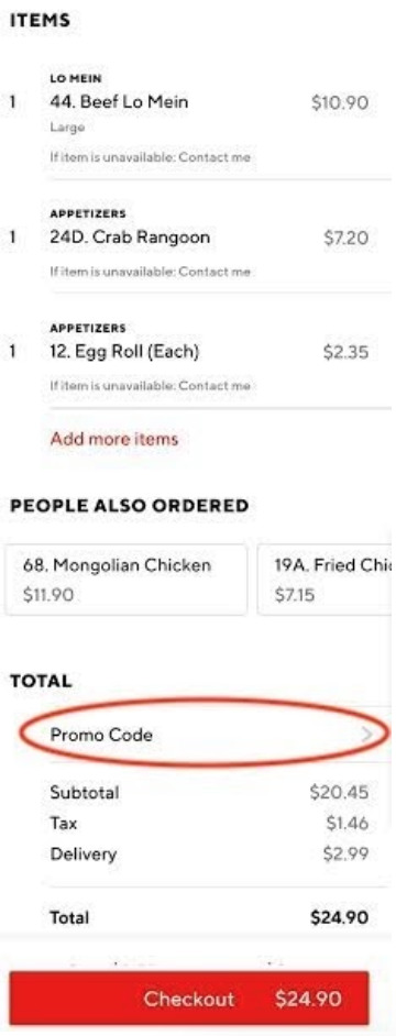 apply doordash promo code