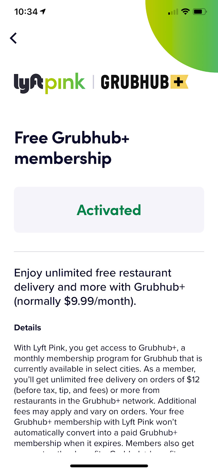 Lyft Pink Pairs with Grubhub to Offer Free Delivery to Subscribers