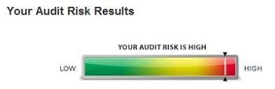 Tax Audit Risk Analysis Visual Indicators