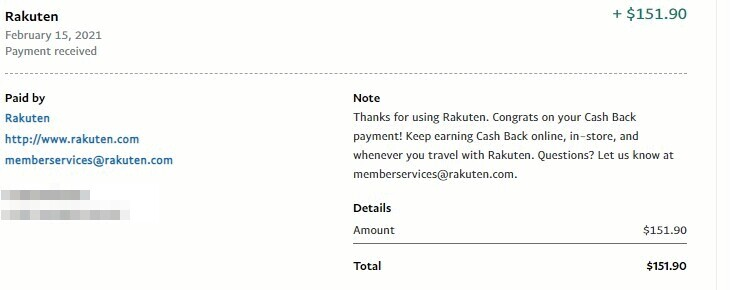 rakuten review paypal cash out