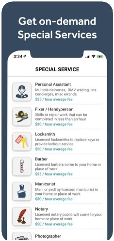 Offer your services directly through the Courial app